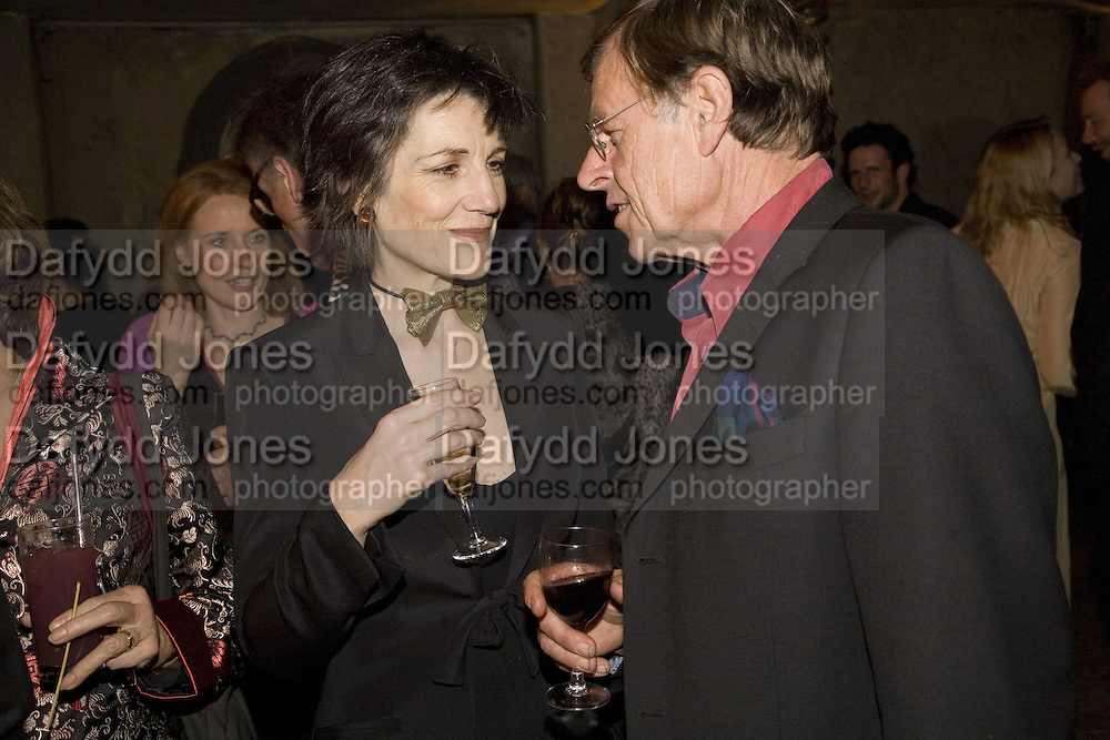 HARRIET WALTER AND TREVOR GROVE, Discover Wilton's Music Hall, Fundraising event. Graces alley, Ensign St. London. 5 December 2007. -DO NOT ARCHIVE-© Copyright Photograph by Dafydd Jones. 248 Clapham Rd. London SW9 0PZ. Tel 0207 820 0771. www.dafjones.com.