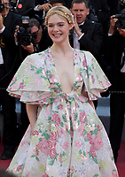 Jury member, actress Elle Fanning at the Les Misérables gala screening at the 72nd Cannes Film Festival Wednesday 15th May 2019, Cannes, France. Photo credit: Doreen Kennedy