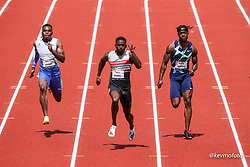 USATF Grand Prix track and field meet<br /> April 24, 2021 Eugene, Oregon, USA<br /> mens 100, New Balance