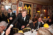 ELLE MACPHERSON; COLIN FIRTH; THANDIE NEWTON; GUY RITCHIE, Graydon Carter hosts a diner for Tom Ford to celebrate the London premiere of ' A Single Man' Harry's Bar. South Audley St. London. 1 February 2010