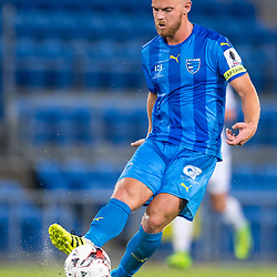 BRISBANE, AUSTRALIA - SEPTEMBER 20: Justyn McKay of Gold Coast City in action during the Westfield FFA Cup Quarter Final match between Gold Coast City and South Melbourne on September 20, 2017 in Brisbane, Australia. (Photo by Gold Coast City FC / Patrick Kearney)
