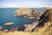 Cliffs, rocky coast near Abercastle, Pembrokeshire, Wales
