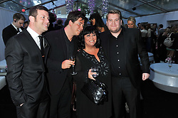 Left to right, DERMOT O'LEARY, MICHAEL McINTYRE, DAWN FRENCH and JAMES CORDON at the Glamour Women of The Year Awards 2011 held in Berkeley Square, London W1 on 7th June 2011.