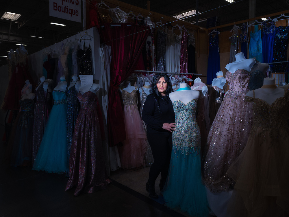 Weeja Payenda, owner of Sophie's Boutique. Stockton Blvd., South Sacramento.<br /> <br /> Our busiest time of the year was usually prom season, which is about January to May. Also June, July, and August which is wedding season. We took a huge hit with the schools being closed and actually shutting down party life. I'm kind of speechless as to how I can describe the situation and how to move forward. I've been charging rent on my credit cards, dipping into savings accounts, borrowing money from my sister, mother, and brother. It's bad, but we got to pick up and get going, what can I do? I look at what I have. In hindsight, at least we have one another. There are people out there that don't even have that and it made you be so thankful for what you have versus what you don't have.