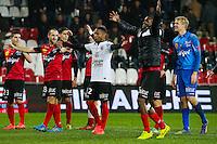 Joie groupe Guingamp  - 03.12.2014 - Guingamp / Caen - 16eme journee de Ligue 1 <br /> Photo : Vincent Michel / Icon Sport