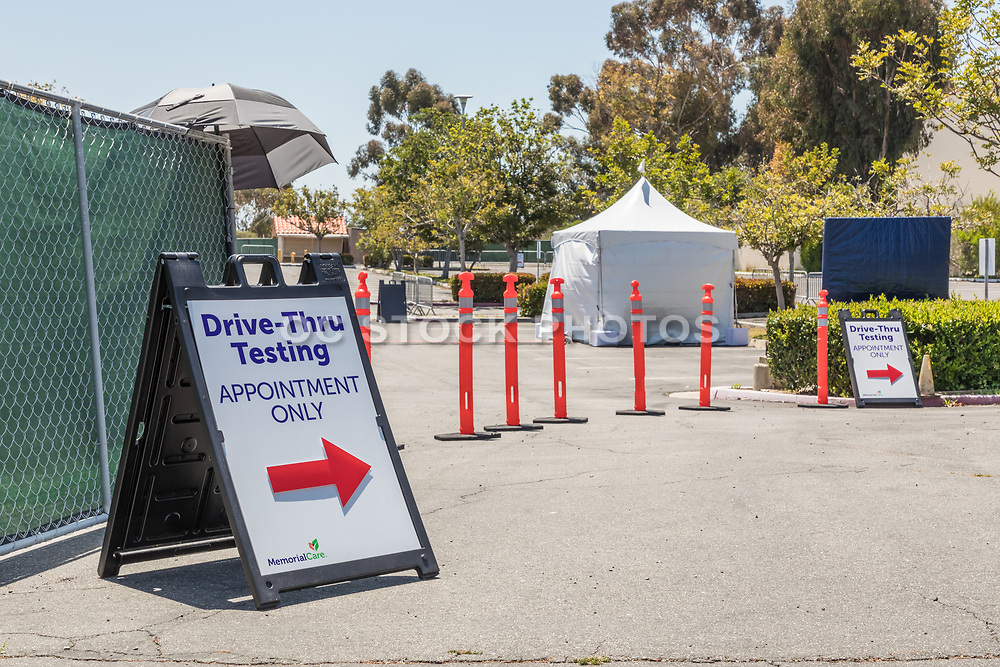 Corona Virus Drive-Thru Testing Site San Clemente