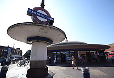 Southgate Tube station in north London is temporarily renamed after Gareth Southgate - 16 July 2018