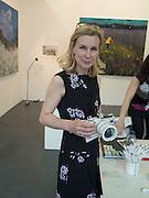 SARAH LONG with camera by Katharine Morling, Art16. Olympia. 19 May 2016