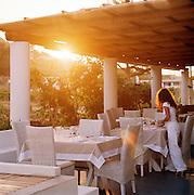 Restaurant at The Salina Lighthouse Hotel, Aeolian Islands, Italy