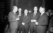 13/11/1967<br /> 11/13/1967<br /> 13 November 1967<br /> Leather Fashions at the Gresham Hotel, Dublin.<br /> Pictured at the event L-R: Mr. F. Policky; Mr. F. Long; Mr. G. Dickenson; Mr Montague Kavanagh and Mr. D.F. Moriarty.