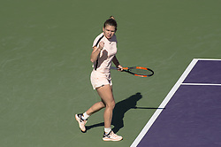 March 22, 2018 - Miami, FL, United States - Miami, FL - March, 22: Simona Halep (ROU) celebrating  here, defeats Oceane Dodin (FRA) 36 63 75 at the 2017 Miami Open held at the Tennis Center at Crandon Park.   Credit: Andrew Patron/Zuma Wire (Credit Image: © Andrew Patron via ZUMA Wire)