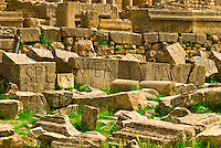 Roman archeological ruins of the theater, Dougga, Tunisia