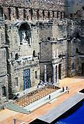 Stage inside Roman amphitheatre  Orange, France 1973