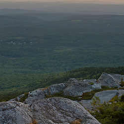 Sunset as seen from near the summit of Mount Monadnock in New Hampshire's Monadnock State Park.
