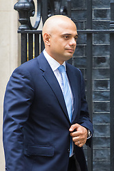 Downing Street, London, September 9th 2016.  Communities and Local Government Secretary Sajid Javid leaves 10 Downing Street following the weekly cabinet meeting.