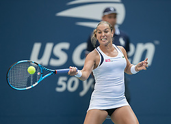 September 1, 2018 - Flushing Meadows, New York, U.S - Dominika Cibulkova during her match against Angelique Kerber on Day 6 of the 2018 US Open at USTA Billie Jean King National Tennis Center on Saturday September 1, 2018 in the Flushing neighborhood of the Queens borough of New York City. Kerber defeats Cibulkova 3-6, 6-3, 6-3. (Credit Image: © Prensa Internacional via ZUMA Wire)