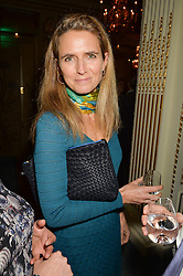 CAROLINE HUTTON former wife of Earl Spencer at a party to celebrate the publication of The Romanovs 1613-1918 by Simon Sebag-Montefiore held at The Mandarin Oriental, 66 Knightsbridge, London on 2nd February 2016.