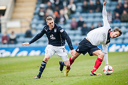Dundee's James McAlister and Falkirk's Will Vaulks.<br /> Dundee 0 v 1 Falkirk, Scottish Championship game played today at Dundee's Dens Park.<br /> © Michael Schofield.