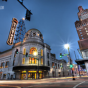 The formerly abandoned Empire Theatre nearing renovation into the new AMC Mainstreet Theatre in downtown KCMO.