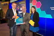 27/01/2014 SCCUL Enterprise Award<br /> Consumer Goods & Services<br /> (Businesses over 3 Years)<br /> One To Watch<br /> Frank Byrnes Auto Body Repairs<br /> <br /> Paddy O'Donnell,(centre) SCCUL presented Frank Byrne and Sinead Healy with their prize.<br /> Oranmore based, award winning and CSS certified bodyshop utilising industry leading technology, providing specialist crash repair services, boat and helicopter painting. <br /> Approved by manufacturers, insurance companies, An Post, ESB and Leaseplan.<br /> Providing claim handling assistance to customers whilst offering value for money repairs, they pride themselves on brilliant systems run by brilliant staff offering brilliant customer experience.<br /> <br />  Photo:Andrew Downes.