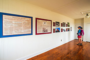 Interpretive display in the visitor center at Bechers Bay, Santa Rosa Island, Channel Islands National Park, California USA