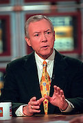 Senator Orrin Hatch (R-UT), chairman of the Senate Judiciary committee discusses the upcoming impeachment hearings against President Clinton during NBC's Meet the Press October 11, 1998 in Washington, DC.