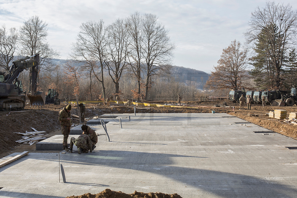 Amatrice, the army's laid foundations for the construction of new housing units.
