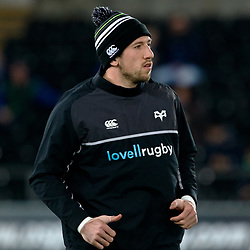 Ospreys' Justin Tipuric during the pre match warm up<br /> <br /> Photographer Simon King/Replay Images<br /> <br /> Guinness PRO14 Round 19 - Ospreys v Leinster - Saturday 24th March 2018 - Liberty Stadium - Swansea<br /> <br /> World Copyright © Replay Images . All rights reserved. info@replayimages.co.uk - http://replayimages.co.uk