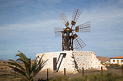 Traditional windmill at Tefia, Fuerteventura, Canary Islands, Spain