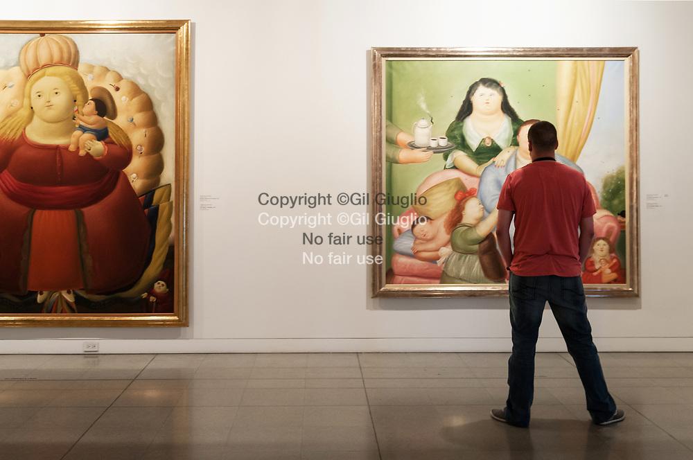 Colombie, Antioquia, Medellin, Musée de l'Antioquia, collection peintures de Botero // Colombia, Antioquia, Medellin Antioquia Museum, Botero colection