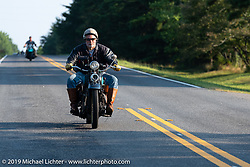 Frank Westfall riding his 1930 Henderson KJ in the Cross Country Chase motorcycle endurance run from Sault Sainte Marie, MI to Key West, FL. (for vintage bikes from 1930-1948). Stage-6 from Chattanooga, TN to Macon, GA USA covered 258 miles. Wednesday, September 11, 2019. Photography ©2019 Michael Lichter.