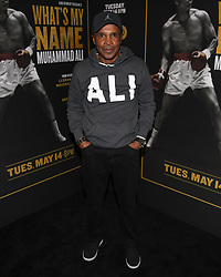 May 8, 2019 - Los Angeles, California, USA - 08, May 2019 - Pasadena, California. Sugar Ray Leonard attends 'What's My Name | Muhammad Ali' HBO Documentary Premiere at Regal Cinemas LA LIVE 14 in Los Angeles, California. (Credit Image: © Billy Bennight/ZUMA Wire)