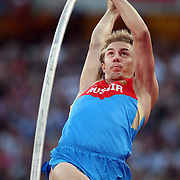 Dmitry Starodubtsev, Russia, in action during the Men's Pole Vault Final at the Olympic Stadium, Olympic Park, Stratford during the London 2012 Olympic games. London, UK. 10th August 2012. Photo Tim Clayton