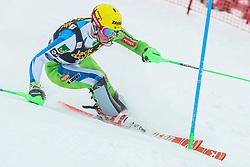 Stefan Hadalin (SLO) during 1st run of Men's Slalom race of FIS Alpine Ski World Cup 57th Vitranc Cup 2018, on March 4, 2018 in Kranjska Gora, Slovenia. Photo by Ziga Zupan / Sportida