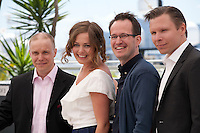 Jarkko Lahti, Oona Airola, Juho Kuosmanen and Eero Milonoff  at The Happiest Day In The Life Of Olli Maki film photo call at the 69th Cannes Film Festival Thursday 19th May 2016, Cannes, France. Photography: Doreen Kennedy