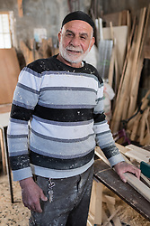 17 April 2019, Tulkarem, West Bank, Occupied Palestinian Territories: Furniture maker Ali Dana runs a small shop in the Tulkarem refugee camp. The camp is integrated into the city, yet the refugees remain in a specific geographical area, as they otherwise risk losing their status as refugees, originally from Jaffa or other parts of present-day Israel, as they were forced to flee in 1948.