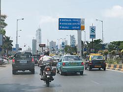 Main road into central Mumbai.