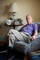 Portraits of author, columnist, and television journalist Bill Geist who came out this week with his Parkinson's diagnosis... Photo by Robert Caplin