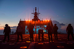 170430-N-PD309-135 <br /> SOUTH CHINA SEA (April 30, 2017) Sailors assigned to Helicopter Sea Combat Squadron 23 conduct a foreign object debris walkdown during flight quarters aboard littoral combat ship USS Coronado (LCS 4). The ship is on a rotational deployment to the U.S. 7th Fleet area of operations, patrolling the region's littorals and working hull-to-hull with partner navies to provide the U.S. 7th Fleet with the flexible capabilities it needs now and in the future. (U.S. Navy photo by Mass Communication Specialist 3rd Class Deven Leigh Ellis/Released)