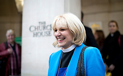 © London News Pictures. 20/11/2012. London, UK . Reverend Rosie Harper arriving at Church House in Westminster, London for day two of the three-day Church of England General Synod. Members will vote on whether to allow women to become bishops, 20 years after the Church decided to ordain women as priests. Photo credit: Ben Cawthra/LNP