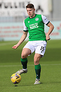 Kevin Nisbet (15) of Hibernian during the Betfred Scottish League Cup match between Cove Rangers and Hibernian at Balmoral Stadium, Aberdeen, Scotland on 10 October 2020.