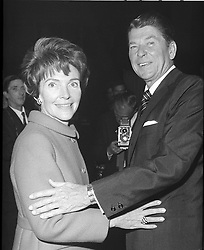 RONALD REAGAN, Governor of California, Former Actor, with his wife NANCY, 06.11.1969. EXPA Pictures © 2016, PhotoCredit: EXPA/ Photoshot/ Photoshot<br /> <br /> *****ATTENTION - for AUT, SLO, CRO, SRB, BIH, MAZ, SUI only*****