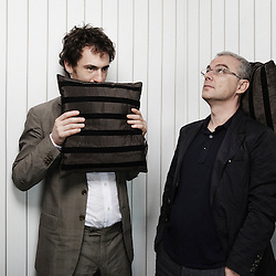 La Nostra Vita's director Daniel Luchetti and actor Elio Germano at the 63rd Cannes Film Festival. France. 20 May 2010. Photo: Antoine Doyen