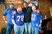 SHOT 12/10/17 1:08:31 PM - Former Buffalo Bills wide receiver and Hall of Fame player Andre Reed signs autographs and meets with fans at LoDo's Bar and Grill in Denver, Co. as the Buffalo Bills played the Indianapolis Colts that Sunday. Reed played wide receiver in the National Football League for 16 seasons, 15 with the Buffalo Bills and one with the Washington Redskins. (Photo by Marc Piscotty / © 2017)