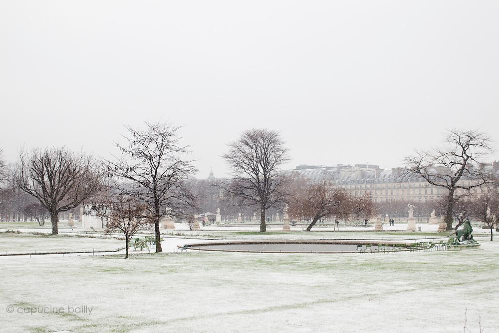 Paris, France. 7 Decembre 2010.Jardin des Tuileries (1er Arrondissement).Paris, France. December 7th 2010.Jardin des Tuileries (1st Arrondissement)