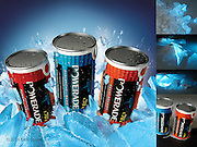 Digital Compositing / Retouch of supplied shots for Powerade Vending Machine image.
