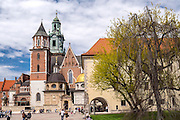 Kraków, 08.05.2016 (woj. małopolskie). Zamek Królewski na Wawelu