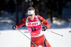 SVENDSEN Emil Hegle of Norway during Men 12.5 km Pursuit competition of the e.on IBU Biathlon World Cup on Saturday, March 8, 2014 in Pokljuka, Slovenia. Photo by Vid Ponikvar / Sportida