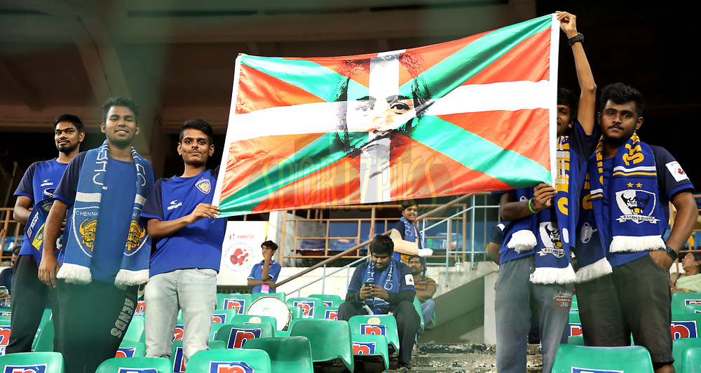Fan's arrives for the match 27 of the Hero Indian Super League 2018 ( ISL ) between Chennaiyin FC  and Mumbai City FC  held at the Jawaharlal Nehru Stadium, Chennai, India on the 3rd November 2018<br /> <br /> Photo by: Sandeep Shetty /SPORTZPICS for ISL