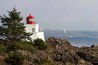 Amphitrite lghthouse, Ucluelet, Vancouver Island, British Columbia Canada, September 2008   Photo: Peter Llewellyn